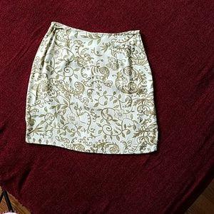 Rayon print mini skirt